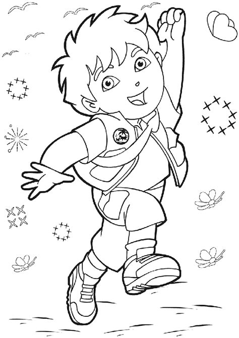 dora and diego coloring page free printable diego coloring pages for kids