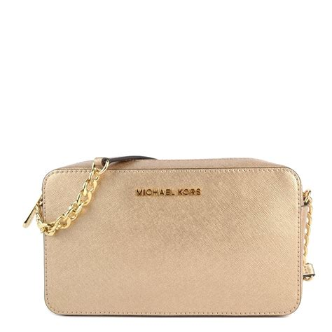 Michael Kors Pale Gold Crossbody Mk Authentic Michael Kors Jet Set Crossbody Pale Gold Jacket Mksale