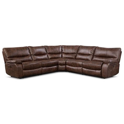 2 pc reclining sectional orlando ii 5 pc power reclining sectional american