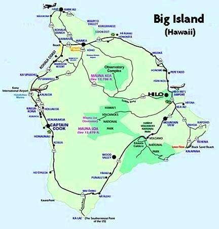 hawaii wind pattern maps map of the big island