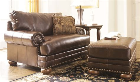 leather chair with ottoman costco rocker recliners chair and a half with ottoman recliner