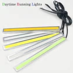 2pcs ultra bright 12v 17cm cob chip led daytime running