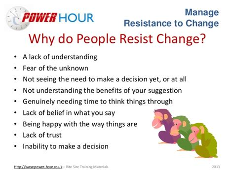 what are resistors to change manage resistance to change
