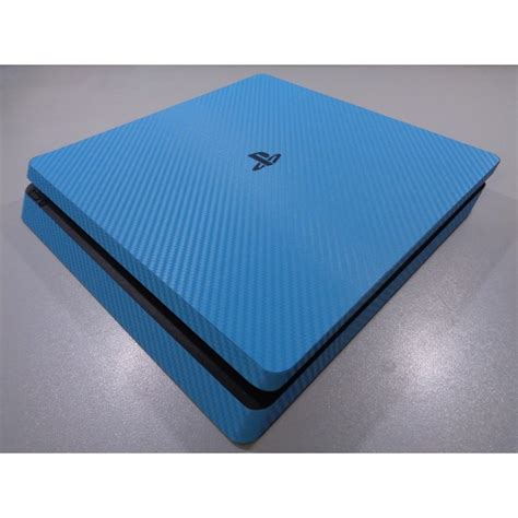ps4 slim blue light ps4 slim skin 3d carbon fiber sky blue xq gaming