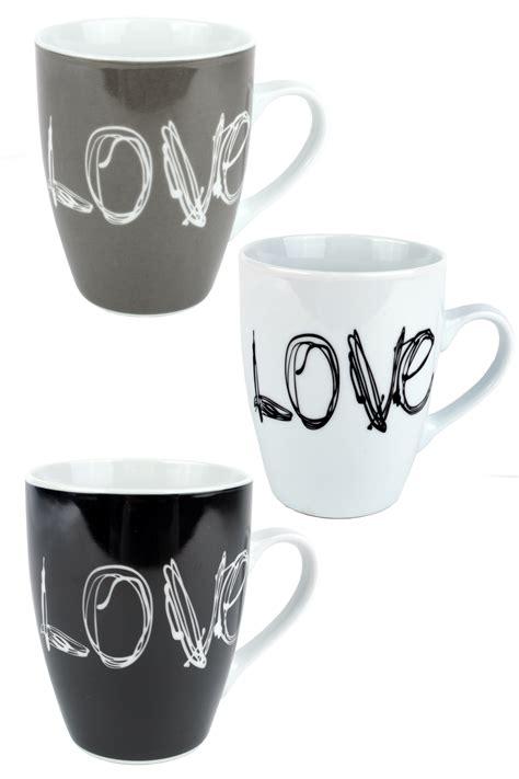love coffee mug scribbled love tea cup