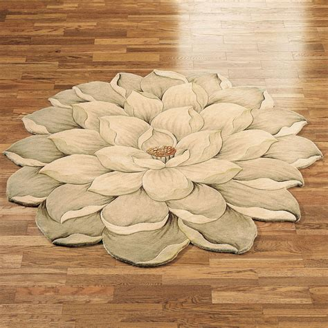 Extra Long Tension Curtain Rods by Melanie Magnolia Round Flower Rug