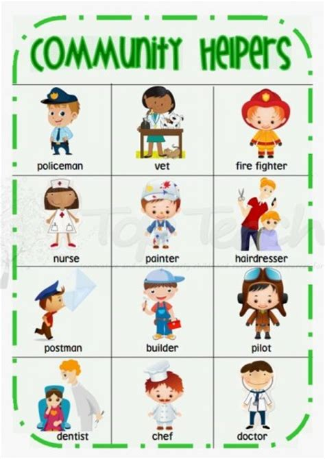 pattern grading jobs kindergarten student community helper clipart 1999029