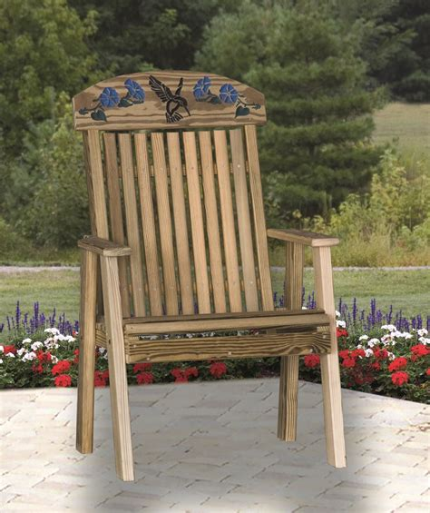 hummingbird garden bench four seasons furnishings amish made furniture luxcraft