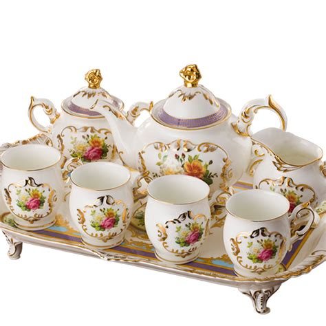 Cangkir Set Tea Coffee Set white fashion coffee cup of pattern ceramic tea set quality afternoon tea utensils