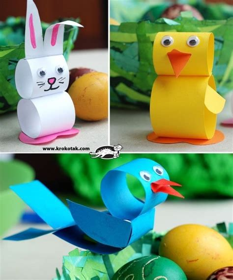 Paper Easter Crafts - easter crafts for at home with