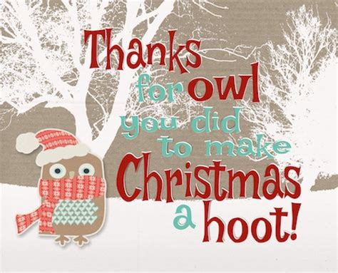 making christmas  hoot    ecards