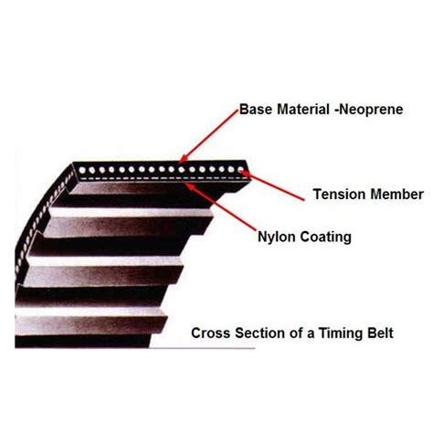 v belt cross section industrial timing belts trapezoidal curvilinear belt