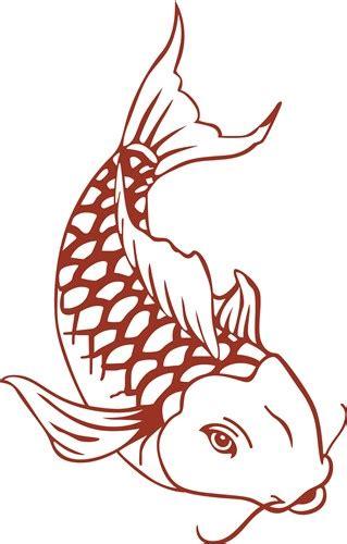 Two Koi Fish Outline by Koi Fish Outline Vector Illustration Annthegran