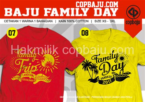 design baju untuk family day design readymade baju family day kedai cetak baju online