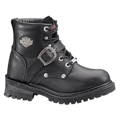 s harley davidson 174 6 quot steel toe faded boots black 99564 casual shoes at