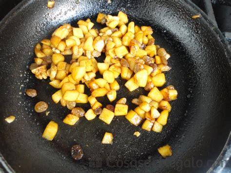 cocina con lara salteado de yogur con manzana pasas y nueces postre sencillo como