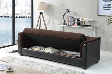 amazon sofa bed with storage amazon com nhi express melanie futon sofa bed with