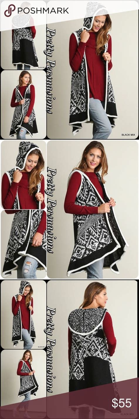 Black White Sweater Tribal best 25 sleeveless cardigan ideas on style