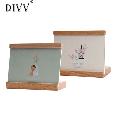 zero new home decor wooden picture frame destop style