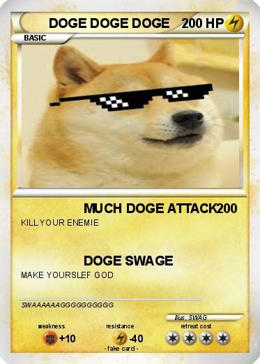 doge card pok 233 mon doge doge doge 3 3 much doge attack my