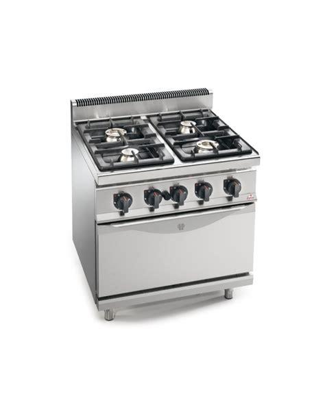 cucine a gas con forno cucina a gas 4 fuochi alta potenza con forno a gas gn 1 1