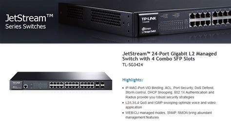 Tplink Sg3424 24 Port Manage Gigabit Switch Hub tp link tl sg3424 24 port gigabit l2 managed switch