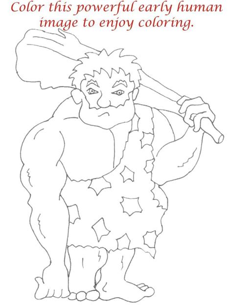 early humans coloring page early humans printable coloring page for kids 13