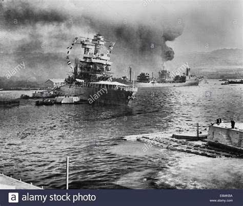 leaves berth virtually surrounded by stricken ships the u s s stock photo royalty free image