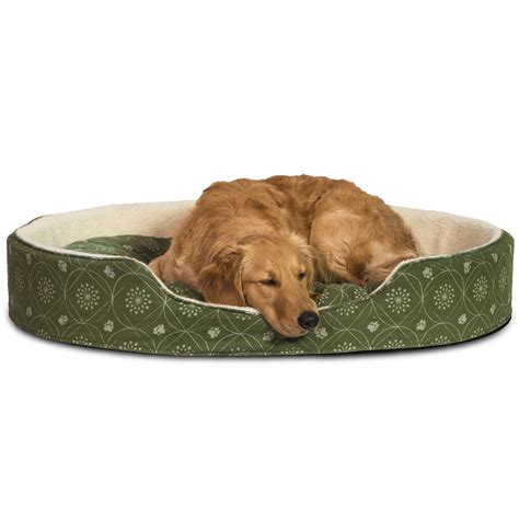 furhaven pet bed furhaven nap pet bed oval lounger dog or cat bed cuddler