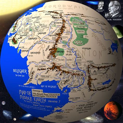 pc globe maps and facts middle earth on a globe lord of the rings