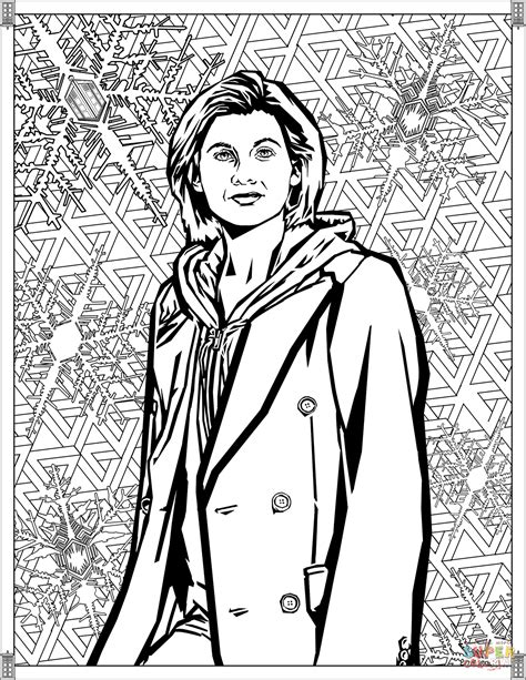 dr who coloring pages thirteenth doctor coloring page free printable coloring