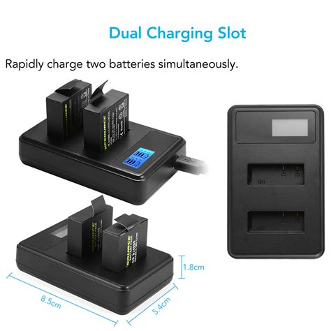 Paket Komplit 2x Battery Sjcam Dual Charger For Sjcamm10brica Ae 2x 1100mah li ion battery dual slot charger data cable for