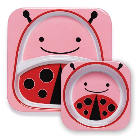 Zoo Tuck Away Baby Bib Ladybug buy skip hop zoo bibs tuck away bib bug design at