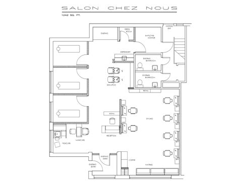 create salon floor plan sle floorplan salons pinterest salon design
