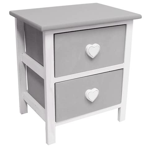 girls bedroom table hartleys 2 drawer heart bedside cabinet table girls