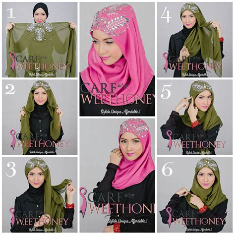 tutorial hijab paris bawal hijab tutorial scarf sweethoney