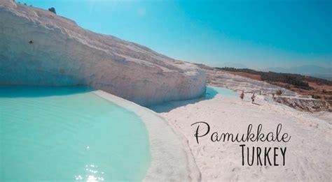 pamukkale thermal pools turkey pamukkale in turkey spectacular travertine thermal pools