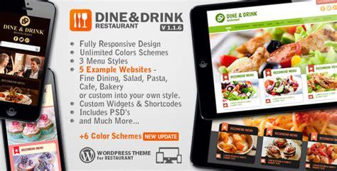 themeforest india dine drink restaurant wordpress theme by andthemes