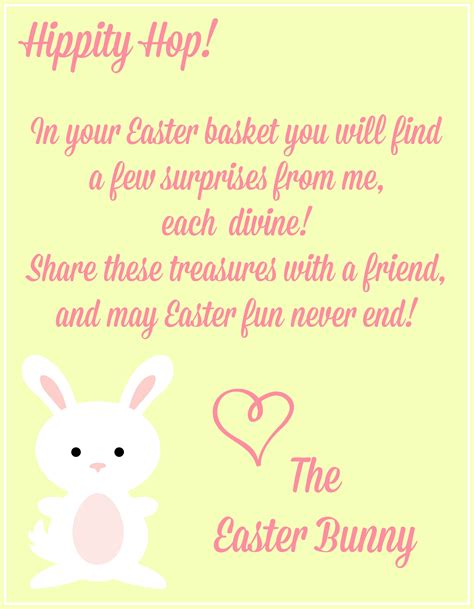 Free Printable Letters Easter Bunny | free easter printables notes from the easter bunny