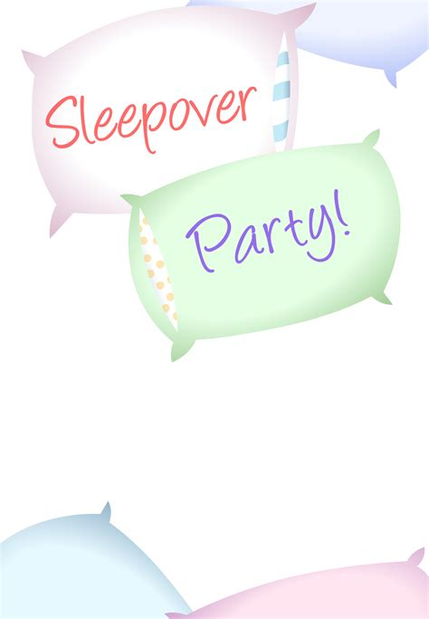 free printable sleepover invitation templates free printable sleepover invitation helpful hints