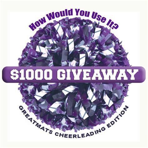 Cheer Giveaway - greatmats 1000 giveaway 2016 cheerleading winner