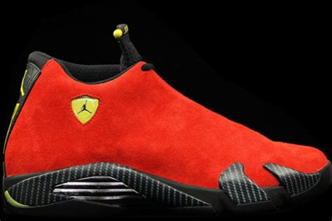 michael jordan ferrari closer look at the air jordan 14 quot ferrari quot sbd