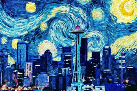 paint nite seattle seattle the starry by silentmobster42 on