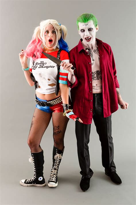 themes for halloween costumes become the joker harley quinn from suicide squad for