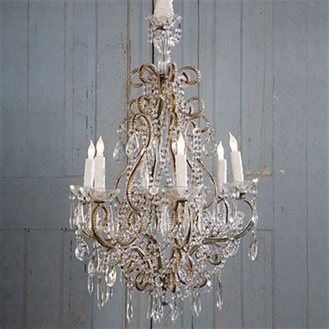 Chandelier Shabby Chic Orange L Shade Shabby Chic Chandelier