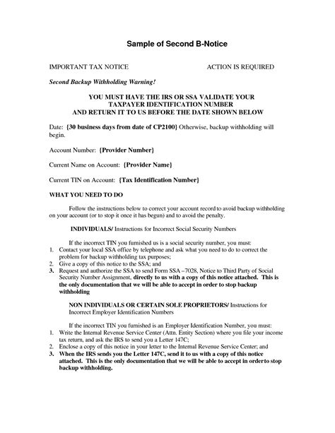 10 Best Images Of B Notice Template Irs First B Notice Letter For 1099 Irs Audit Letter B Notice Form Template