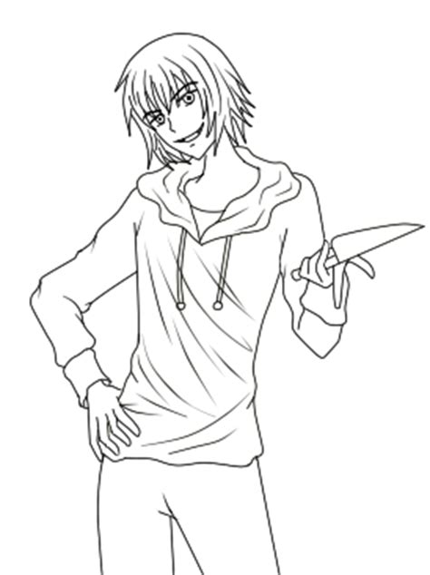 Anmie Jeff The Killer Coloring Pages