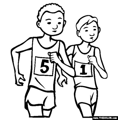 coloring pages of a person running race walking coloring page free race walking online
