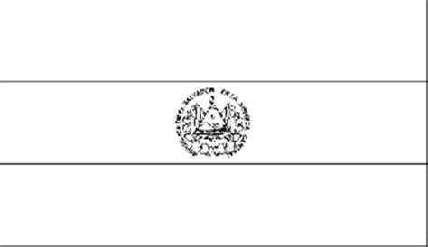 el salvador flag coloring page
