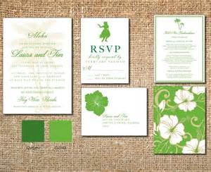 luau wedding invitations resort wedding invitation hawaii destination
